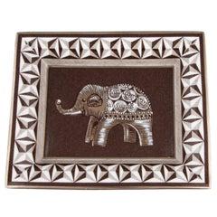 Hermes Porcelain Brown White Home Desk Table Ashtray Trinket Vanity Jewelry Tray