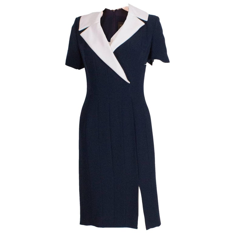 Bruce Oldfield Couture Dress with Detachable Collar