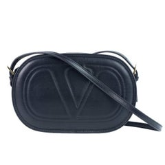 Valentino Women's Black Logo Go Small Calfskin Crossbody Bag