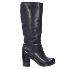 Black Robert Clergerie Leather Tall Boots
