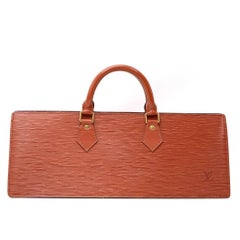 Louis Vuitton Sac Triangle Brown Kenyan Fawn Epi Leather Hand Bag