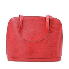 Vintage Louis Vuitton Lussac Red Epi Leather Shoulder Bag