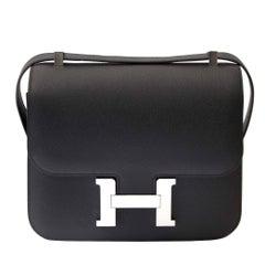Hermes Constance 24 Epsom Black PHW