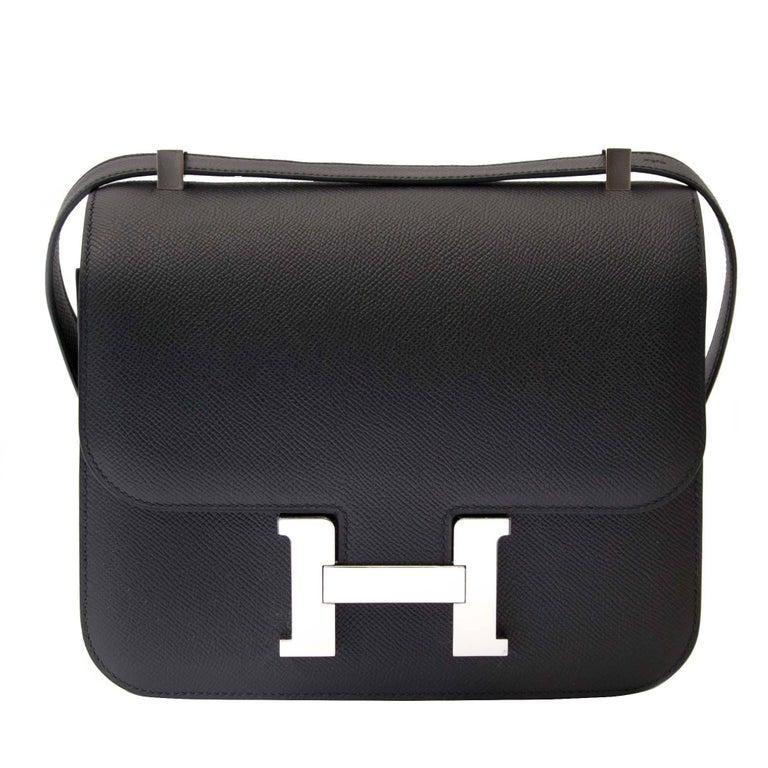 e933defae71f Hermes Constance 24 Epsom Black PHW For Sale. Never used