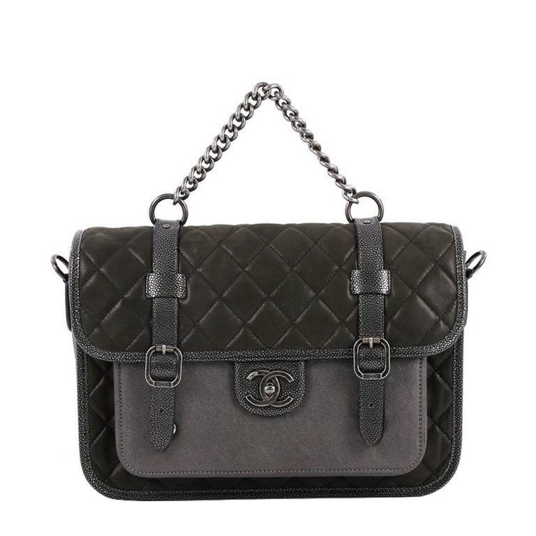 Chanel Paris-Bombay Back to School Messenger Quilted Iridescent Calfskin  For Sale 76a40e00fe5a2
