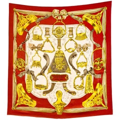 Hermes Etriers Silk 90cm Scarf