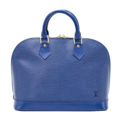 Louis Vuitton Alma Blue Epi Leather Hand Bag