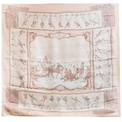Hermes Plaisirs Du Froid Silk 90cm Scarf