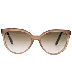 Brown Bottega Veneta Cat-Eye Sunglasses
