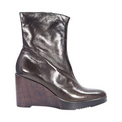 Brown Robert Clergerie Wedge Ankle Boots