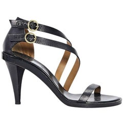 Black Chloé Strappy Leather Sandals