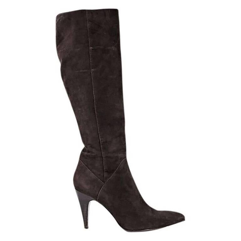 Brown Via Spiga Suede Knee-High Boots