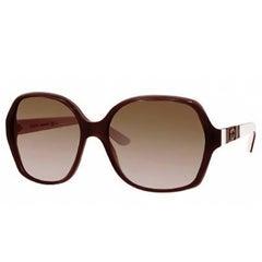 Gucci Taupe & White GG Sunglasses with Case