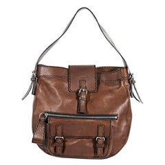 Brown Chloé Leather Shoulder Bag