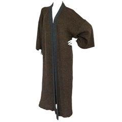 Bill Gibb Mid 1970s Kimono Sleeve Knitted Coat