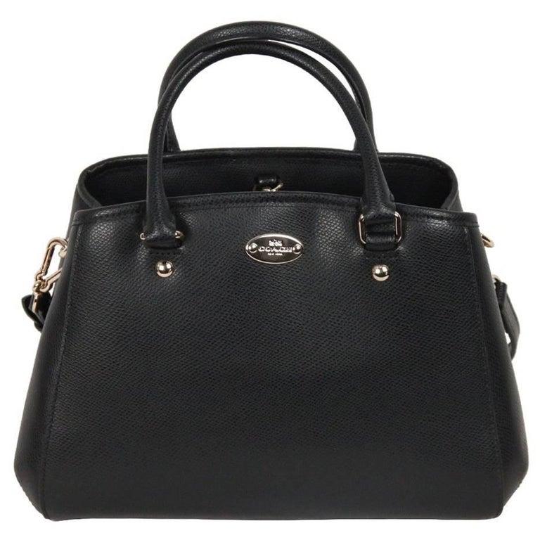 Coach Black Leather Small Margot Bag Handbag W Strap For