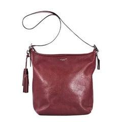 Red Coach Leather Shoulder Bag
