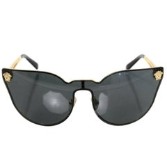 Versace Black Medusa Cat-Eye Sunglasses with Box and Case