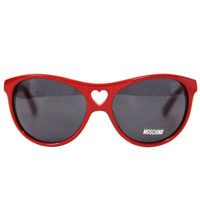 1990s Moschino Red Heart Sunglasses