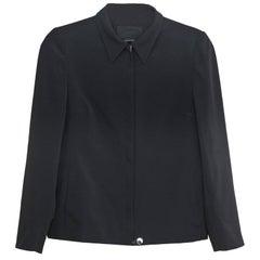 Prada Black Front Zip Jacket Sz IT42