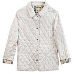 Burberry Beige Quilted Jacket Sz S
