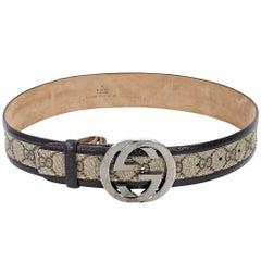 Tan Gucci GG Supreme Belt