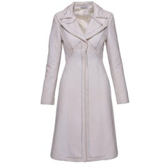 1990s GIANNI VERSACE Couture White Coat