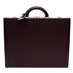 Louis Vuitton President Burgundy Taiga Leather Trunk Briefcase