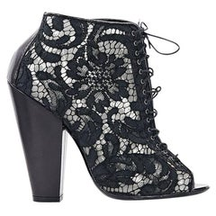 Black Givenchy Lace Ankle Boots