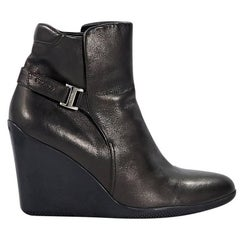Brown Prada Sport Wedge Ankle Boots