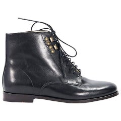 Black A.P.C. Leather Ankle Boots