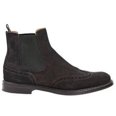 Brown Church's Suede Chelsea Boots