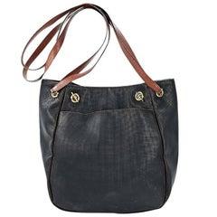 Black Bottega Veneta Embossed Leather Bag