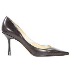 Brown Jimmy Choo Point-Toe Pumps