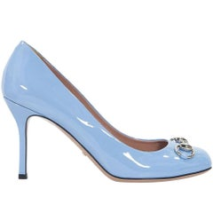 Periwinkle Gucci Patent Leather Pumps