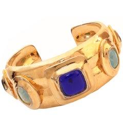 Chanel Gripoix Jewel Cuff Bracelet Rare 1997 Collection