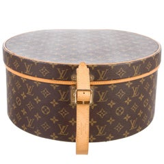 Louis Vuitton Monogram Canvas Hat Travel Storage CarryOn Top Handle  Case Box