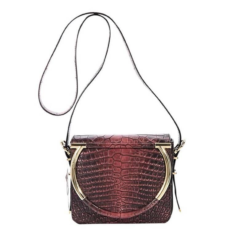 Salvatore Ferragamo Red Alligator Crossbody Bag For Sale at 1stdibs 07503801047fb