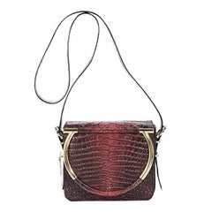 Salvatore Ferragamo Red Alligator Crossbody Bag