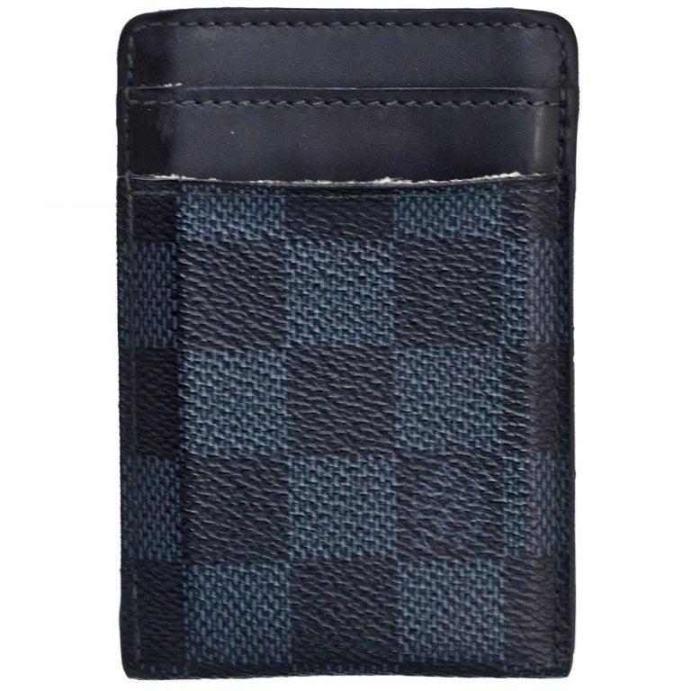 a05aec68dc0 ... PursesWallets and Small Accessories. Louis Vuitton Men s Damier Cobalt  Card Holder Money Clip SHW For Sale
