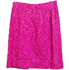 Carolina Herrera Pink Lace Mini Skirt sz US2