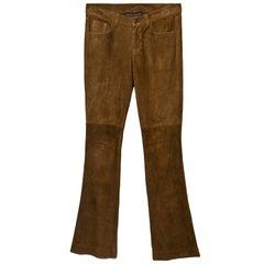 Ralph Lauren Black Label Tan Suede Pants Sz 6