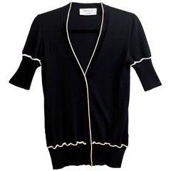 Yves Saint Laurent Black Wool Cardigan Sz S
