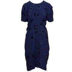 COMME DE GARCONS Blue Flower Dress