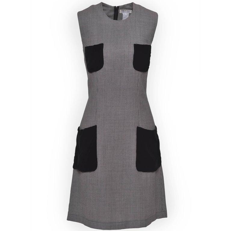 COMME DE GARCONS Black and White Wool Pied De Poule Dress