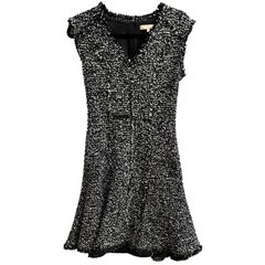 Michael Kors Black & White Tweed Sleeveless Dress Sz 2