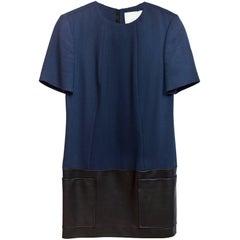 Jason Wu Navy & Black Leather Dress Sz 4