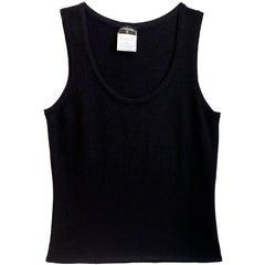 Chanel Black Cashmere Sleeveless Top Sz FR38