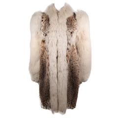 Creeds Toronto Lynx Coat with Fox Fur Collar and Sleeves