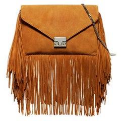 Loeffler Randall Desert Nude Suede Fringe Envelope Bag